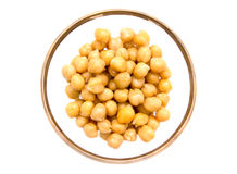 Chickpeas bowl on top Royalty Free Stock Images