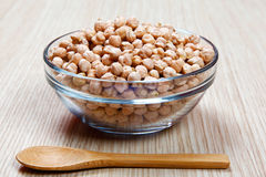 Chickpeas in a bowl Stock Image