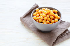 Chickpeas in a ceramic bowl Stock Images