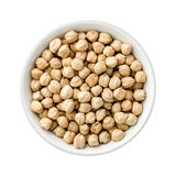 Chickpeas in a Ceramic Bowl Royalty Free Stock Images