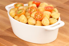 Chickpeas with cherry tomatoes Royalty Free Stock Photo