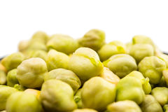 Chickpeas close-up Royalty Free Stock Images