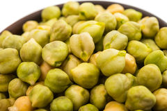 Chickpeas close-up Stock Images