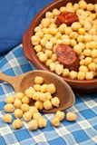 Chickpeas cooked Stock Photography