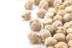 Chickpeas (Garbanzo Beans) Isolated Stock Photography