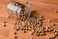 Chickpeas in glass jar Royalty Free Stock Photography