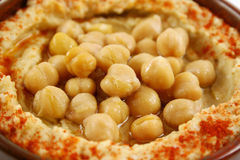 Chickpeas And Hommus Royalty Free Stock Image
