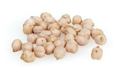 Chickpeas isolated on white background Stock Photo