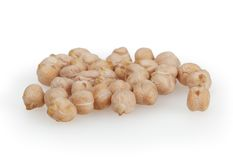 Chickpeas isolated on white background Stock Images