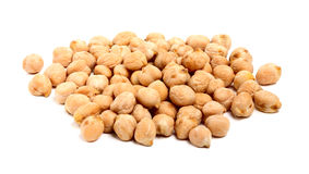 Chickpeas isolated on white background. A handful of chickpeas isolated on a white background Stock Image