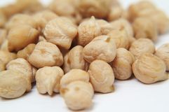 Chickpeas isolated on white background Royalty Free Stock Photography