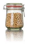 Chickpeas in a jar Stock Photo