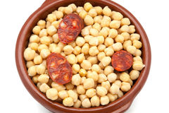 Chickpeas with meat Stock Photo