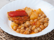 Chickpeas with meat Royalty Free Stock Images