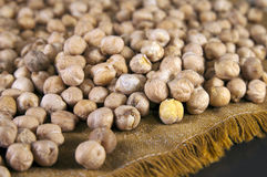 Chickpeas on the napkin Stock Photography