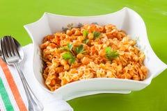 Chickpeas Pasta Stock Photos