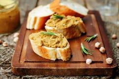 Chickpeas pumpkin turkey liver pate Stock Images