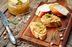 Chickpeas pumpkin turkey liver pate Royalty Free Stock Photography