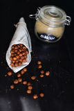 Chickpeas roasted with egyptian spices dukkah, savoury snack Royalty Free Stock Images