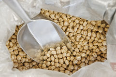 Chickpeas in a sack Royalty Free Stock Photos