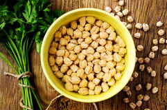 Chickpeas royalty free stock photos