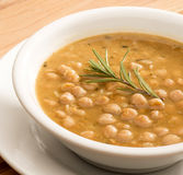 Chickpeas soup Stock Images