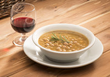 Chickpeas soup Royalty Free Stock Image