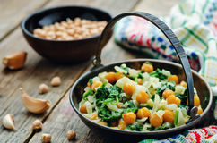 Chickpeas and spinach curry Royalty Free Stock Photo