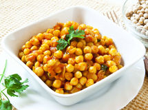 Chickpeas Stew with Parsley Royalty Free Stock Photo