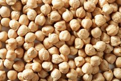 Chickpeas texture at studio Royalty Free Stock Images