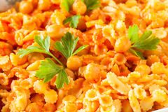 Chickpeas Tomato Sauce Pasta Royalty Free Stock Images