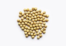 Chickpeas: Uncooked Beans Isolated. royalty free stock photography