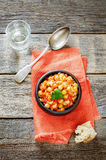 Chickpeas with vegetables and pangasius Royalty Free Stock Photo