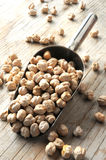 Chickpeas white raw for cooking portion Stock Images