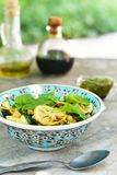 Chickpeas and zucchini salad. Stock Image