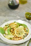 Chickpeas and zucchini salad. Royalty Free Stock Photography
