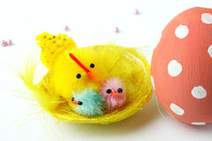 Chicks and Easter egg Royalty Free Stock Photos