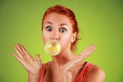 Chicle de globo Fotos de archivo