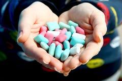Chicles azules y rosados foto de archivo libre de regalías