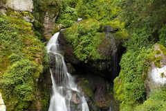 Chico cascade II. Waterfall as part of the natural national park of mineral del chico, located in the mexican state of hidalgo royalty free stock photography