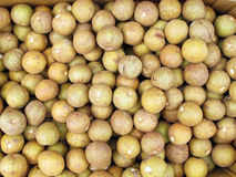 Chico Fruit. Box of chico fruit for sale in market royalty free stock photo