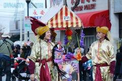 Chico McRooster en el desfile chino del Año Nuevo de Los Angeles foto de archivo