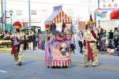 Chico McRooster przy Los Angeles nowego roku Chińską paradą fotografia royalty free