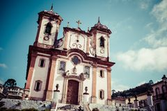 Chico Rei church in Ouro Preto - Minas Gerais - Brazil Stock Image