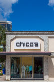 Chico`s Clothing Store Exterior and Logo Stock Image
