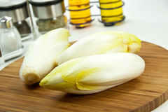 Chicory on a cutting board. close u royalty free stock images