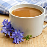 Chicory drink in white cup on board Stock Photo