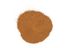 Chicory powder. Isolated on a white background Royalty Free Stock Photos