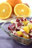 Chicory salad with fresh orange slices Royalty Free Stock Photos