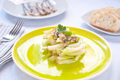 Chicory salad typical of the city of Rome italy Stock Photos